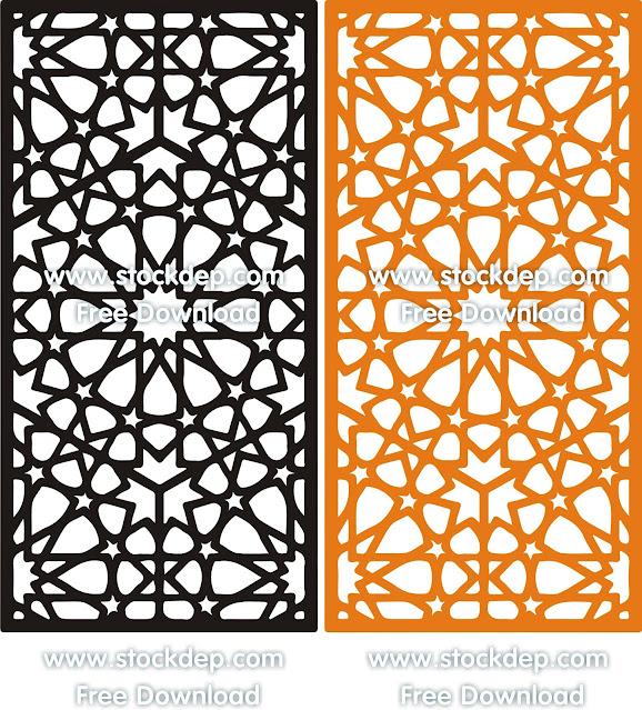 Laser Cut Decor Screen Islamic Pattern Seamless Arabic Geometric Pattern