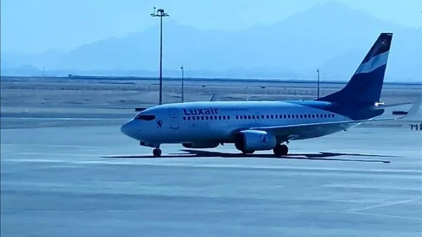 Hurghada airport receives the first flight of Luxair from Luxembourg