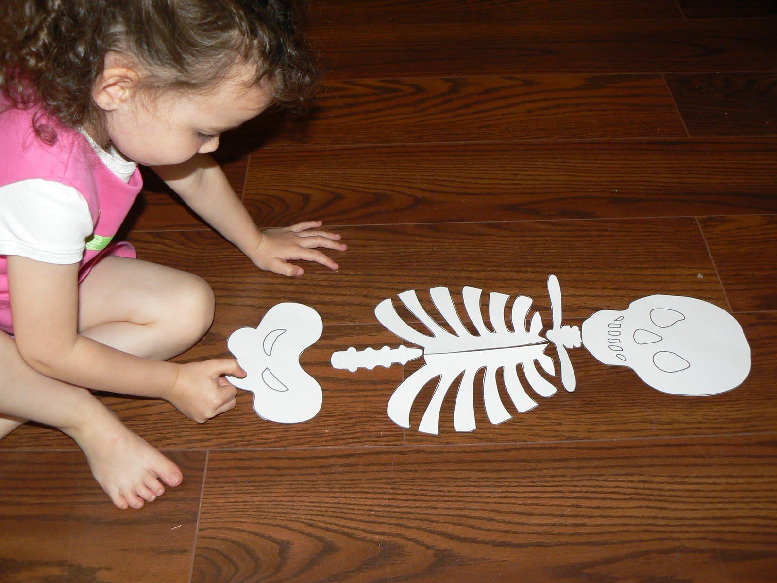 Having Fun At Home Skeleton Puzzle