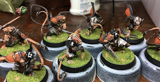 Skaven Rats Blood Bowl team finished Scramblers speed painting