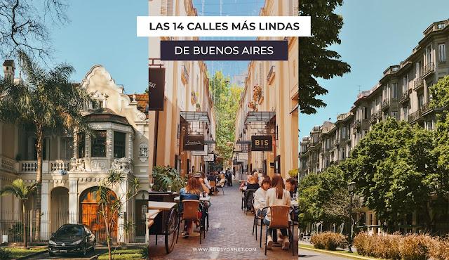 Las 14 calles más lindas de Buenos Aires