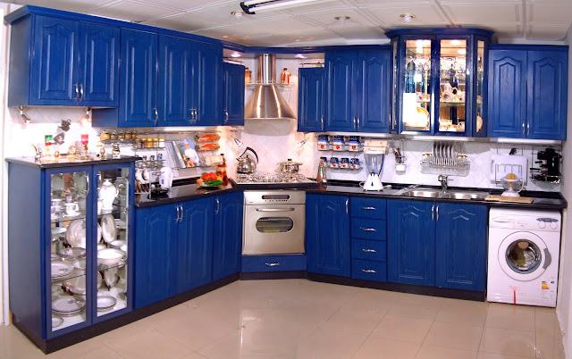 مطبخ الامنيوم باللون الازرق 2019