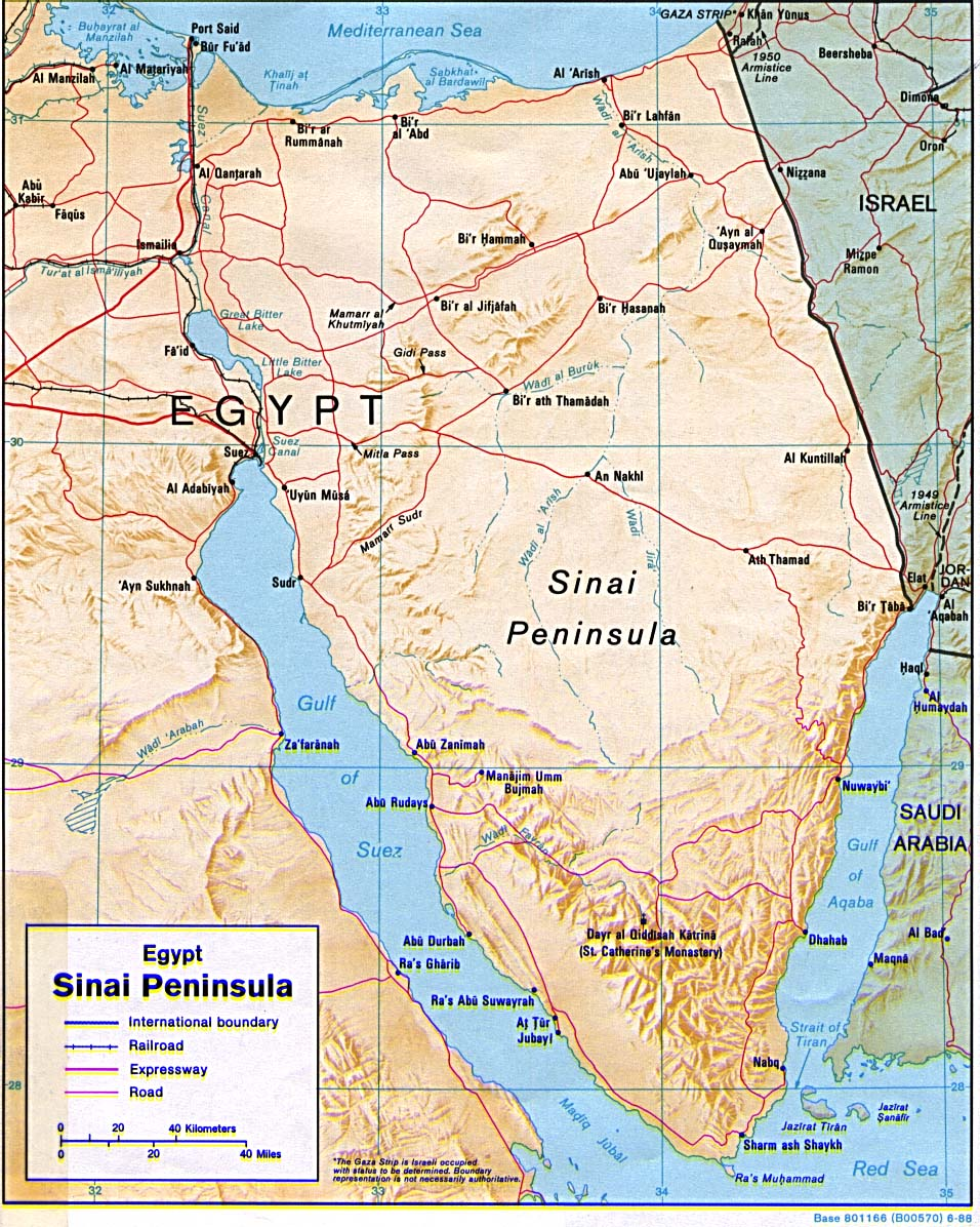 ESCHATOLOGY TODAY Global SITREP D The Sinai Peninsula And - Map of egypt today