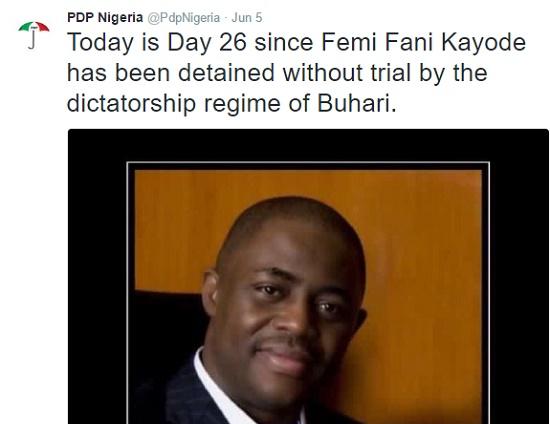 ffk5 PDP Speaks On FFK's Detention news