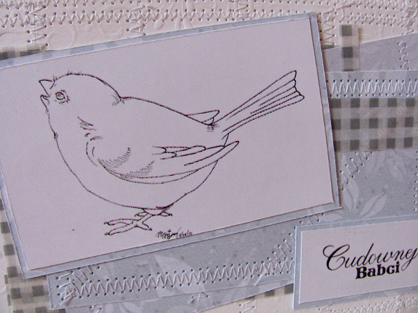 kartka handmade dla babci