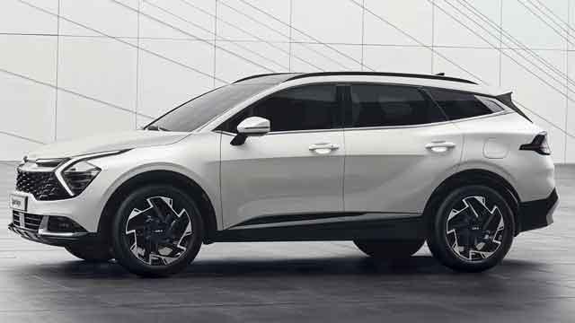 التصميم الخارجي لسيارة كيا سبورتاج 2023