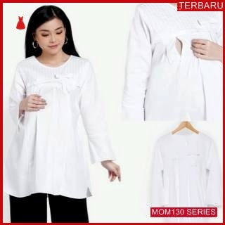 MOM130B9 Baju Atasan Hamil Lux Putih Bajuhamil Ibu Hamil
