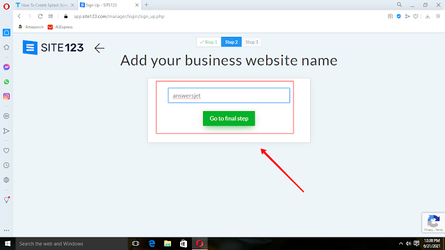 How to create website with site123 sitebuilder