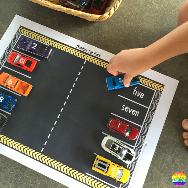 TRANSPORT THEMED NUMBER POSTERS + MATS - Hands-on resources for car loving preschoolers wanting to learn how to recognize, quantify and write numbers to 10 | you clever monkey