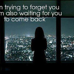 I Am Trying To Forget You But Im Also Waiting For You To Come Back