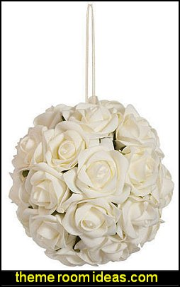 Ivory Hanging Floral Topiary