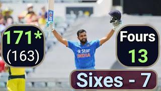Rohit Sharma 171* vs Australia   9th ODI Hundred Highlights