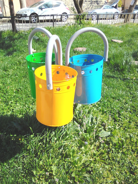 Three, Pastel, Coloured Waste Bins, Yambol,