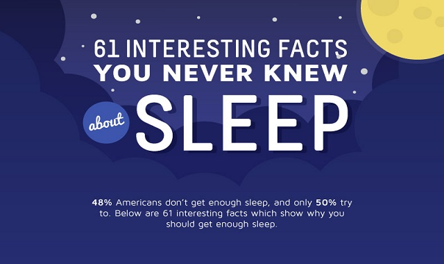 61 Interesting Facts You Never Knew About Sleep #infographic
