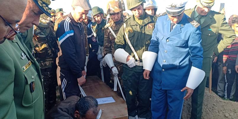 جنازة الجندي الشهيد بن عدة ابراهيم