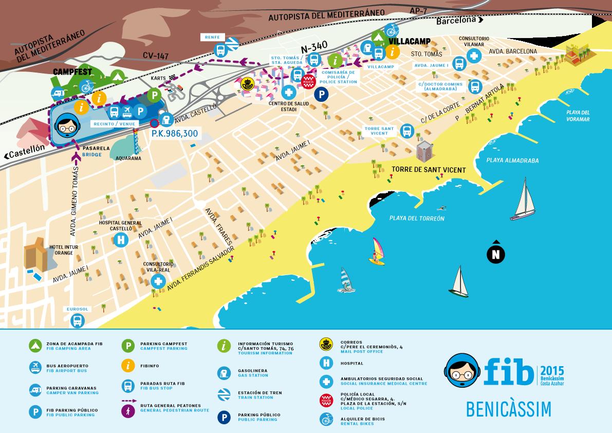 Benicassim Festival Map