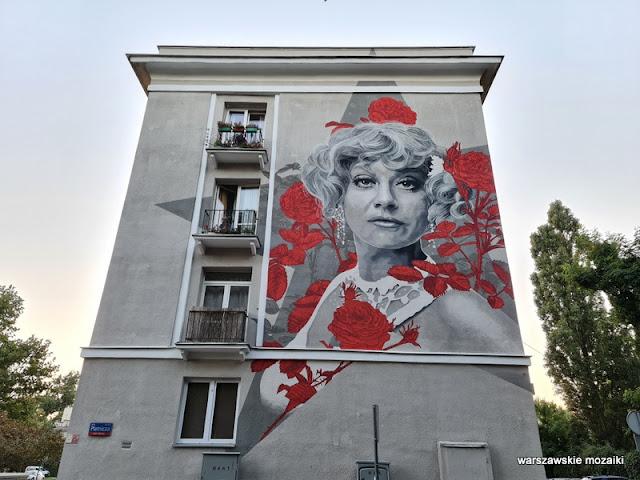Warszawa Warsaw Stare Bielany aktorka street art mural murale warszawskie mural art
