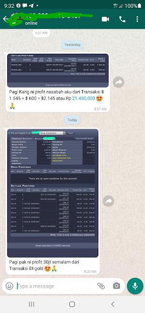 Chat dengan marketing broker forex lokal dalam negri