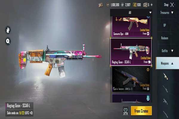 SCAR-L PUBG Mobile Gun Damage 2020