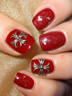 Wendy S Delights Silver Tone 3d Gothic Crosses From Charlies Nail Art