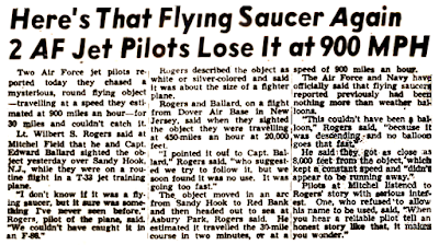 Here's That Flying Saucer Again - New York Post 9-11-1951