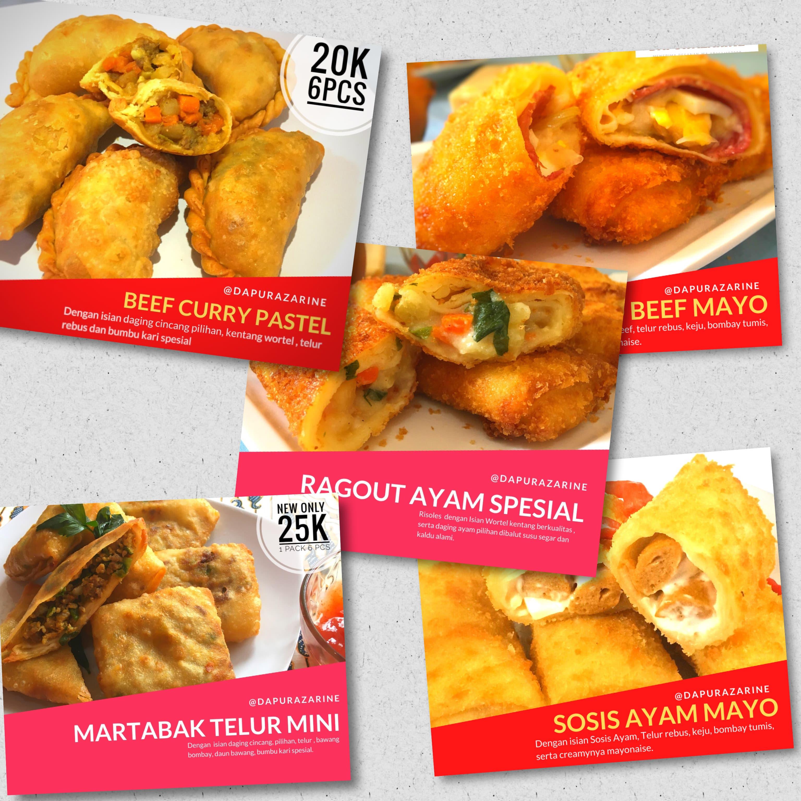 varian produk frozen food Dapur Azarine