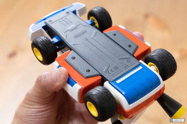 【遊戲】任天堂 AR 競速玩起來《瑪利歐賽車實況:家庭賽車場》 - 超平整化的底盤設計,搭配電動馬達後置後驅的實體賽車