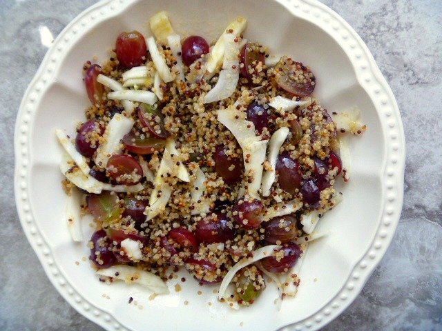 This is the PERFECT summer salad, with hearty grains, a bit of sweet and a bit of bite. What an excellent compliment to any grilled dish you may be serving up for Memorial Day. - Slice of Southern