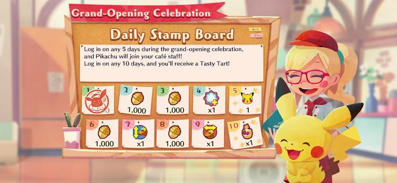 Pokémon Café Mix - Daily Stamp Board