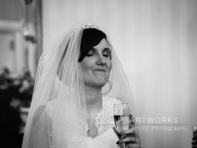 Bride funny face