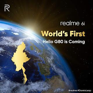 Realme 6i akan segera hadir;  untuk diluncurkan sebagai ponsel Helio G80 pertama di dunia