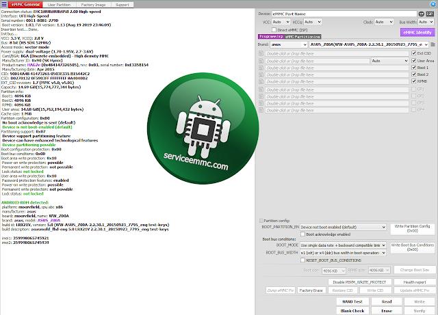 #Jadulan_TUTORIAL Sukses Ganti ic eMMC ASUS Z008D(ZE550ML)+ON