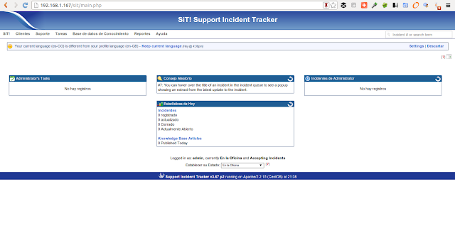 DriveMeca instalando Support Incident Tracker