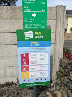 Trail signs on the Waterford Greenway near Dungarvan