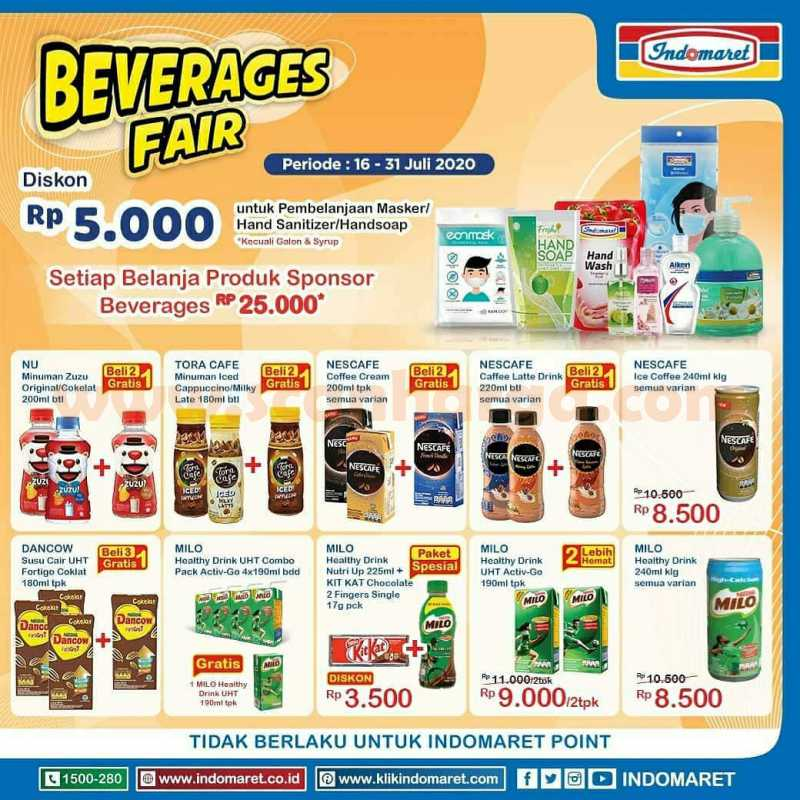 Promo Indomaret Beverages Fair Periode 16 - 31 Juli 2020 1