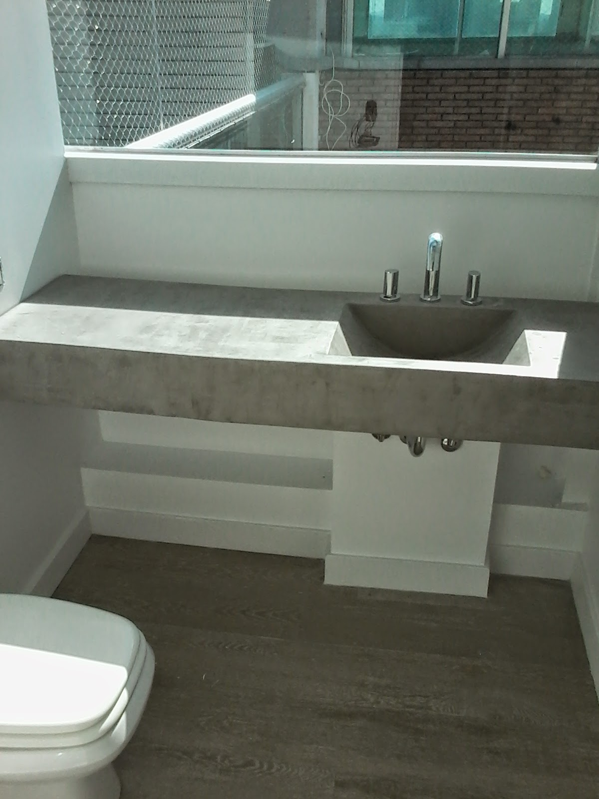 Muebles en cemento light estilo ribera for Como hacer una pileta de hormigon
