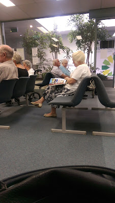 Elderly people going to Doctor