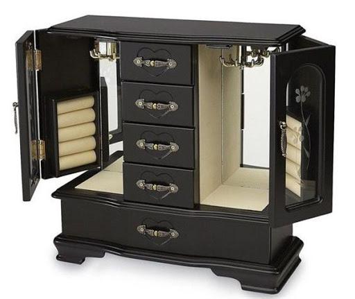glass jewelry armoire