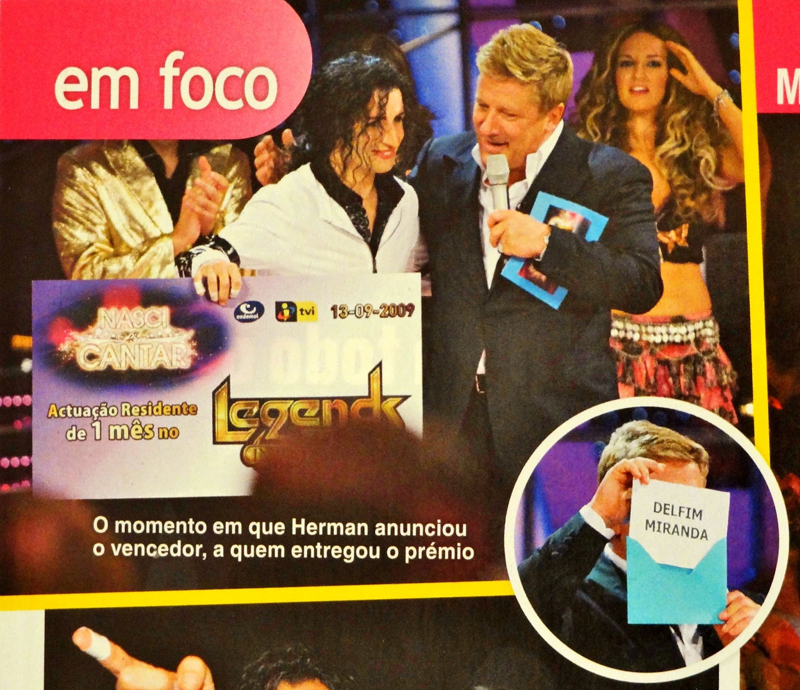 "Delfim Miranda - Michael Jackson Tribute - Magazine cut - Winning ""The One & Only"" - TVI / Endemol"