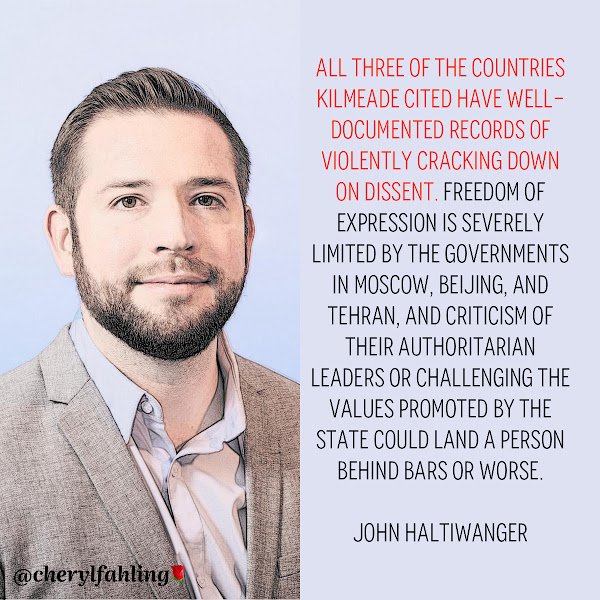 All three of the countries Kilmeade cited have well-documented records of violently cracking down on dissent. Freedom of expression is severely limited by the governments in Moscow, Beijing, and Tehran, and criticism of their authoritarian leaders or challenging the values promoted by the state could land a person behind bars or worse. — John Haltiwanger, Business Insider Senior Politics Reporter