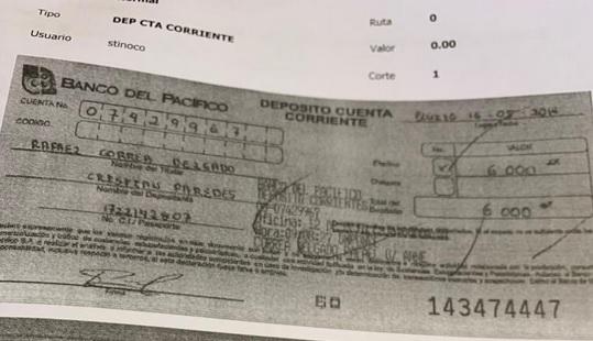 Rafael Correa recibió USD 6000 en sobornos
