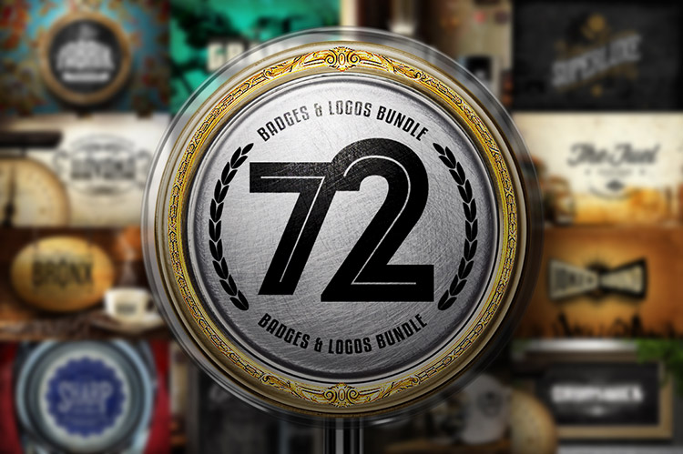 72 Badges & Logos Bundle