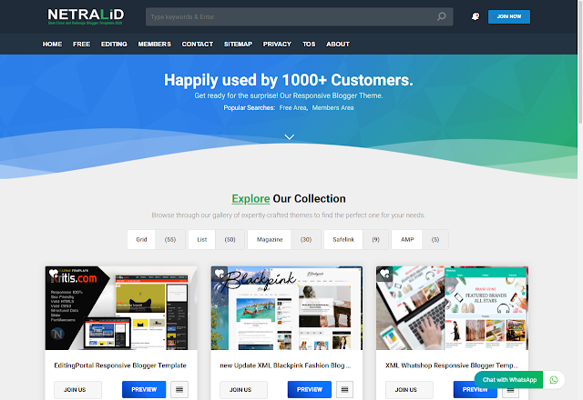 Download Netralid Premium Blogger Template for free