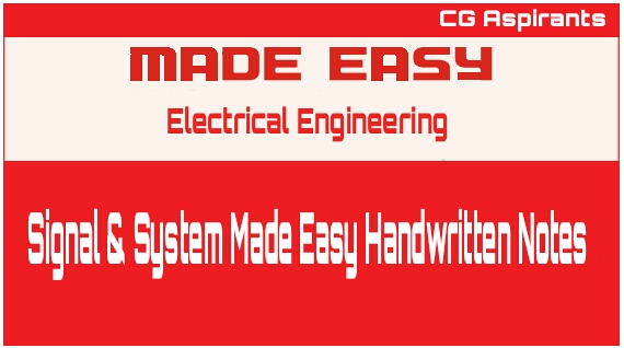 Download Signal & System Made Easy 2019 Handwritten Notes Pdf