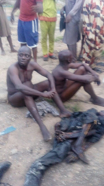 These two old men were caught with human legs, Other Body Parts In Ogun