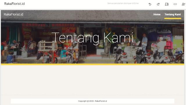 Halaman tentang kami pada google sites