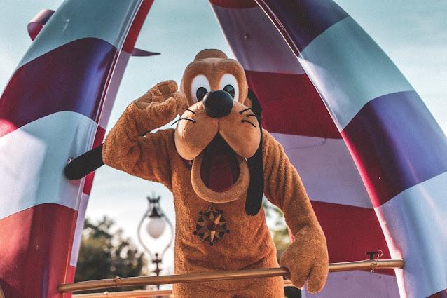 Pluto at Disneyland