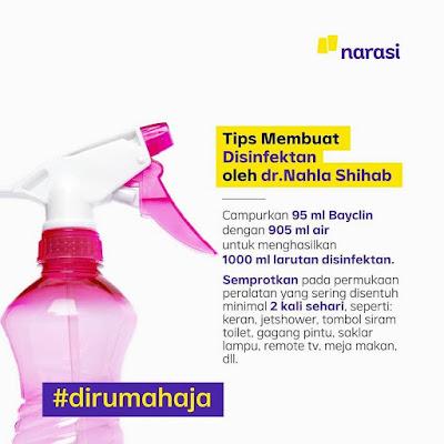 Cara membuat disinfektan dari Bayclin
