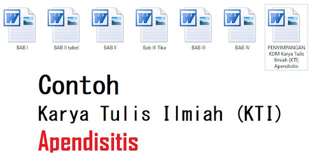 Karya Tulis Ilmiah (KTI) Apendisitis