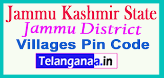 Jammu District Pin Codes in Jammu Kashmir